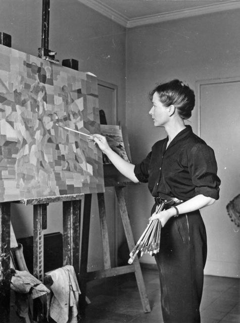 Hélène de Beauvoir painting - Source Galerie Hammer, Regensburg