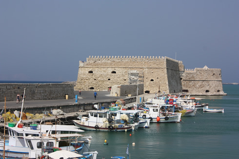 Venetian harbour and fortress of Koules