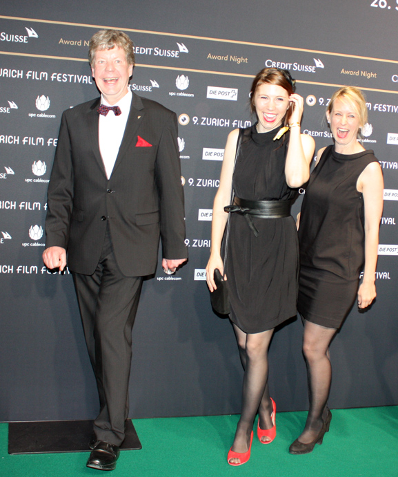 Christian Zingg, Gabriela Betschart and director of Neuland, Anna Thommen for the awards ceremony of ZFF - copyright Veronique Gray