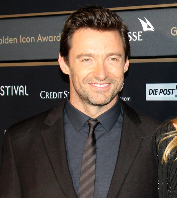 Hugh Jackman on the green carpet the night of the Golden Icon Award Ceremony - copyright Veronique Gray