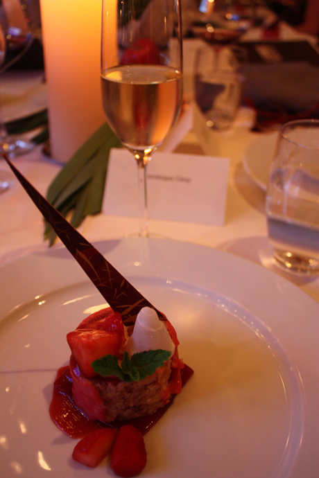 IL TAVOLO 2014 at the PARK HYATT - Strawberry dessert with whisky - copyright Veronique Gray