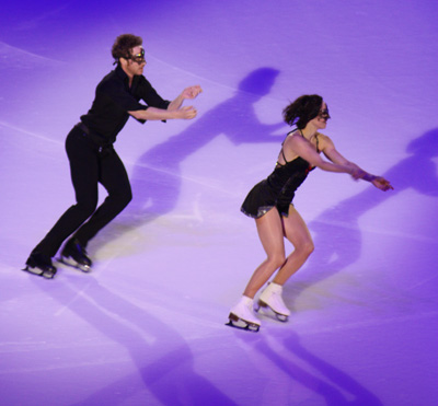 Ice dancers Nathalie Pechalat and Fabian Bourzat - copyright Véronique Gray