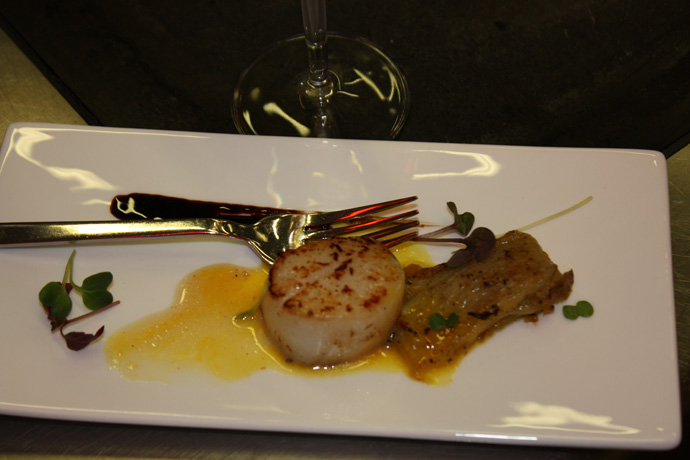 Il tavolo scallops with chicorée from Maurice MARRO, Baur au Lac - copyright Veronique Gray
