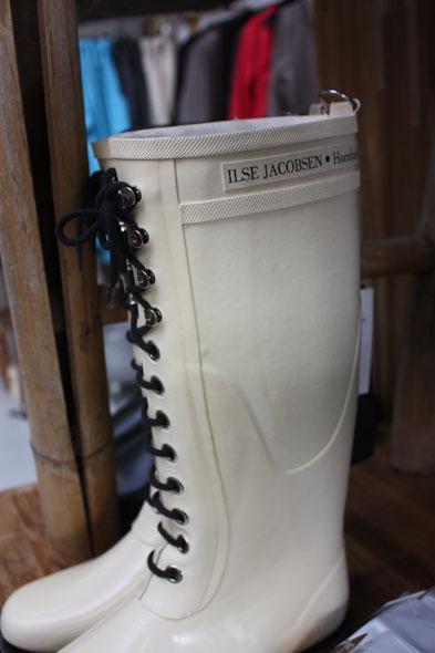 Ilse Jacobsen plastic boots for rainy days
