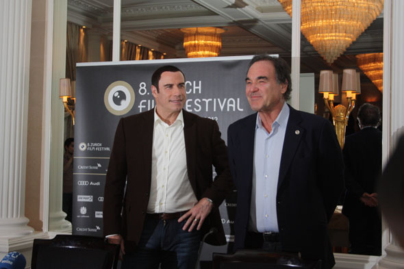 John Travolta and Oliver Stone