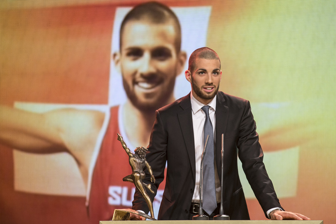 Kariem Hussein, Newcomer of the year at the Credit Suisse Sports Awards - PHOTOPRESS Alexandra Wey