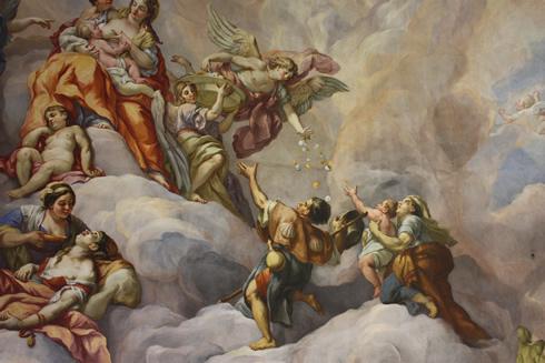 Rottmayr fresco in St Charles, Vienna
