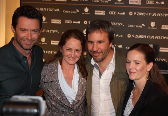 Kira davis, Denis Villeneuve, Mellissa Leo and Hugh Jackman during the press conference in Zurich - copyright Veronique Gray