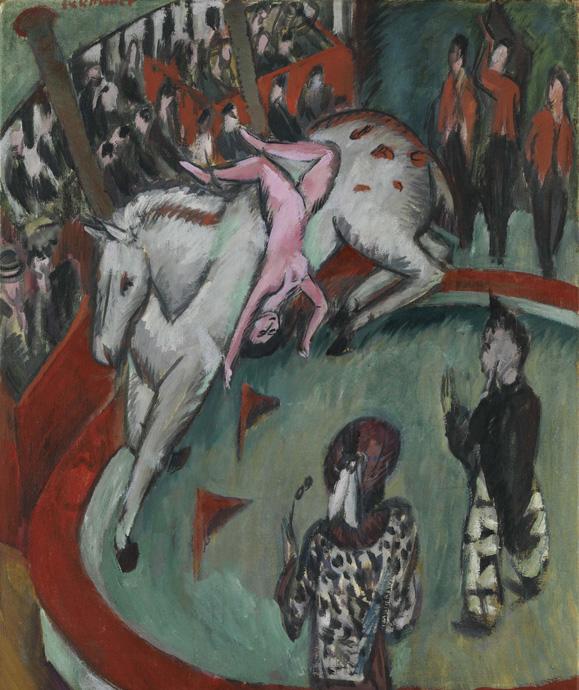 Zirkusreiterin - Kirchner-Circus-copyright-Bayerische-Staatsgemäldesammlungen-Sammlung-Moderne-Kunst-in-der-Pinakothek-der-Moderne-Munich