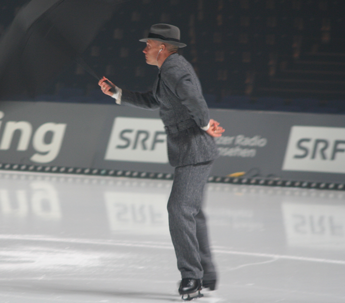Kurt Browning at the rehearsal from Art on Ice in Zurich