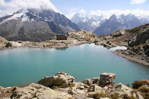 View of the Lac Blanc