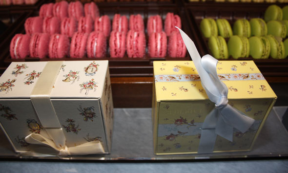 Ladurée beautiful boxes with double-decker macarons