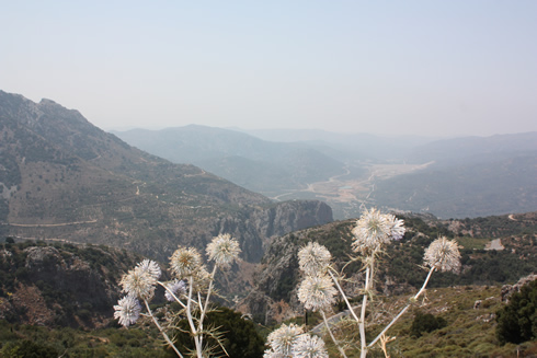 Mountainous panorama in Dikte mountains in Crete