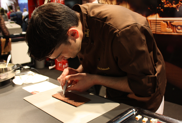 Laurent Robatel, maitre chocolatier at Villars - copyright Veronique Gray