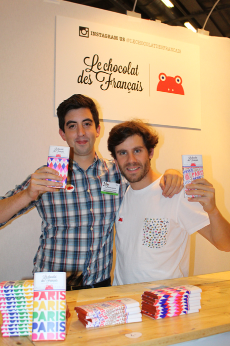 Le chocolat des Francais' owners at the Salon du Chocolat - Paul-Henri Masson (left) and Matthieu Escande (Right) - copyright Veronique Gray