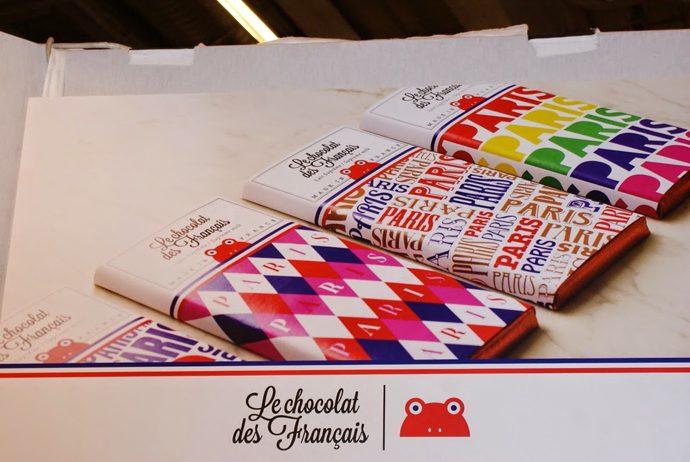 Le chocolat des Francais colorful wrappers- copyright Veronique Gray