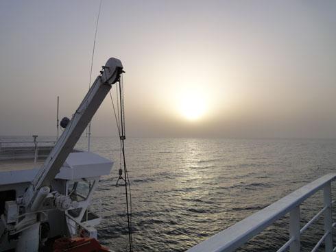 Leaving Egypt for Jordan on the ferry