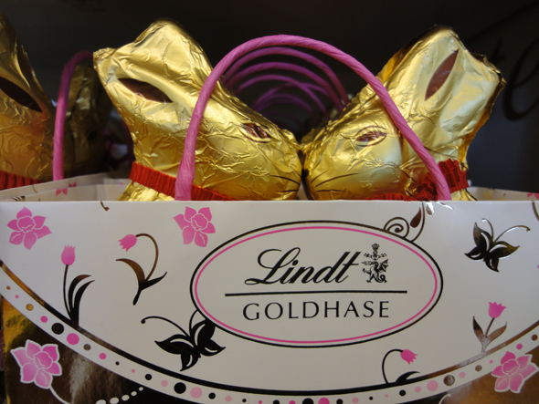 Lindt Chocolate bunnies, Kilchberg Easter store