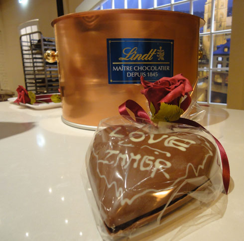 Lindt chocolate heart