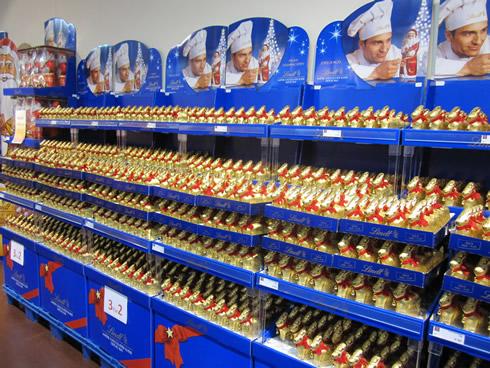 Lindt christmas shop in Kilchberg