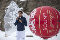 Roger Federer opens the Lindt Swiss Chocolate Heaven