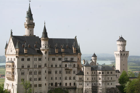 Ludwig's castle in Neuschwanstein in Bavaria