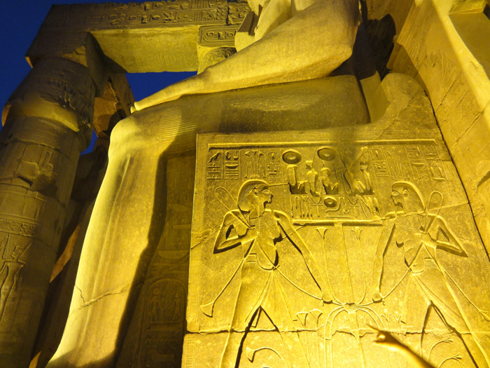Luxor temple by night, EGYPT - copyright Veronique Gray