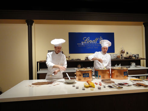 Maitres Chocolatiers Rolf Holenweger and Heinz Schlegel