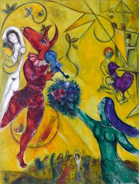 Marc Chagall, La danse, 1950-1952, Nice, musée national Marc Chagall © RMN-Grand Palais (musée Marc Chagall) Gérard Blot © ADAGP 2012