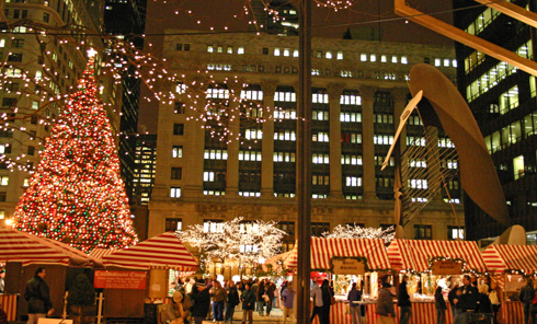 Market View from Dearborn with Picasso (Chicago market)- copyright Peter Schultz