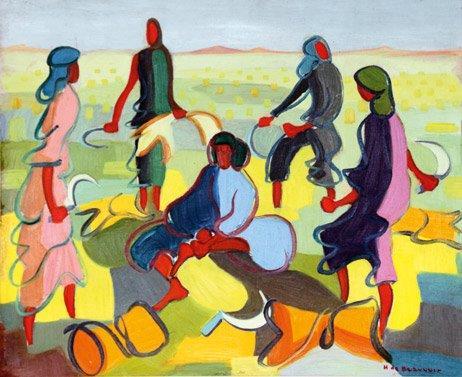 Marokkanische Landarbeiterinnen - copyright Galerie Hammer, Regensburg