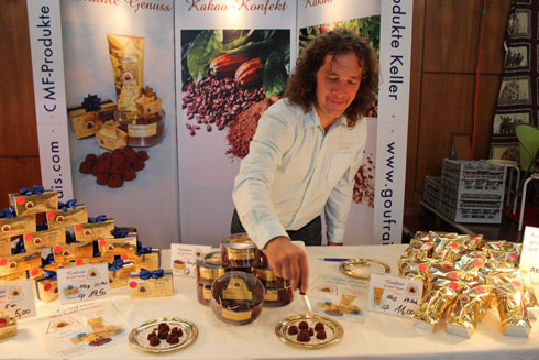 Michael Keller from Goufrais and the delicious chocolate Gugelhupf