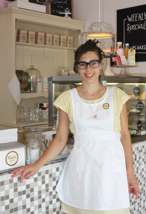 Michelle Burke, store owner of Michelles Cupcakes