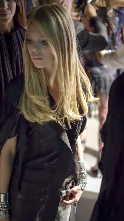 Model backstage at the Mercedes Benz Fashion Days in Zurich - credit photo Caitlin Krause
