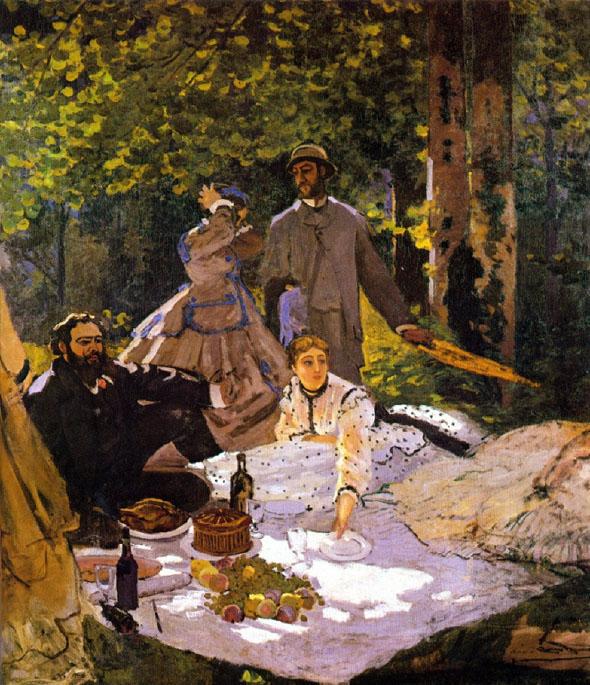 """Monet """"Le Dejeuner sur l'herbe"""" (1865-66) - Museum d'Orsay in Paris"""