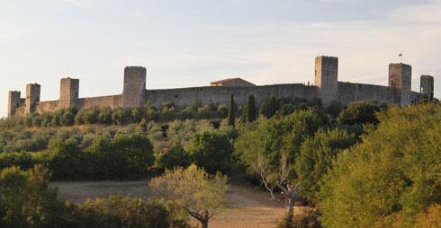 Monteriggioni walls in Tuscany