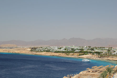 Morning in Sharm el Sheikh - mountains and Red Sea