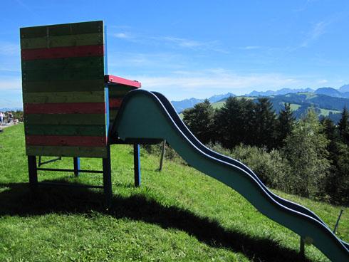 Playground at top of Mt Etzel/Kulm