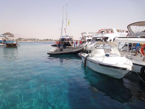 Naama Bay port in Sharm el Sheikh
