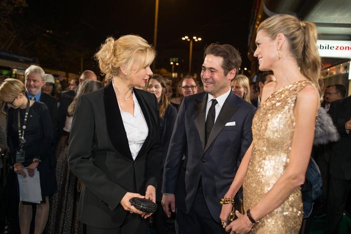 Nadja Schildknecht, Karl Spoerri and Veronica Ferres at the  Zurich Film Festival copyright ZFF