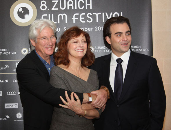 Nicholas Jarecki, Susan Sarandon and Richard Gere in Zurich during ZFF