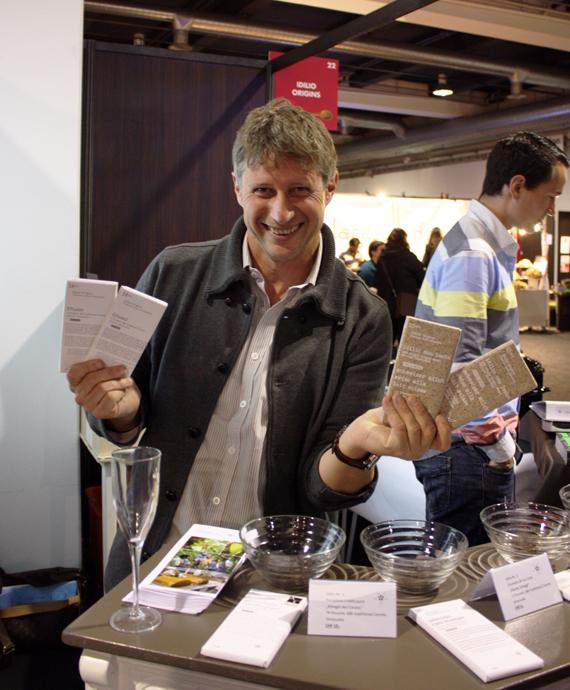 Niklaus Blumer at the salon du chocolat - copyright Veronique Gray