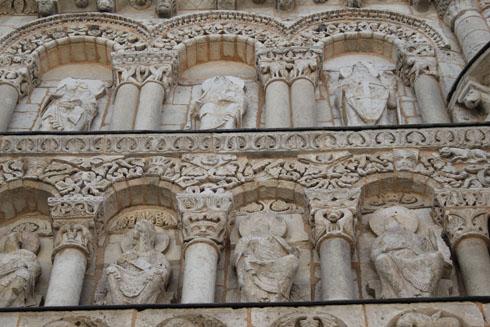 Notre Dame La Grande Bas reliefs in Poitiers