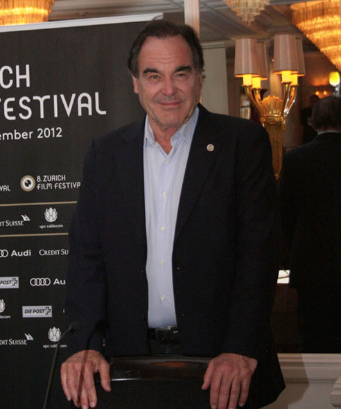 Oliver Stone at the ZFF press conference, Baur au Lac Hotel