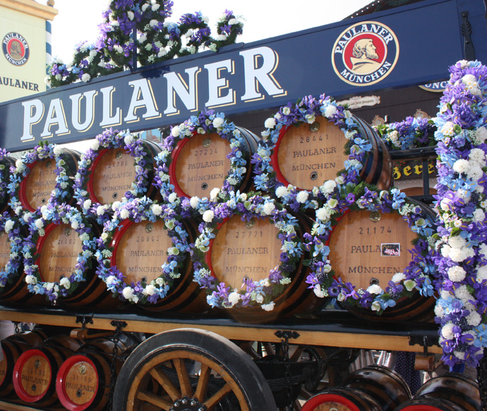 Paulaner beers at the Oktoberfest