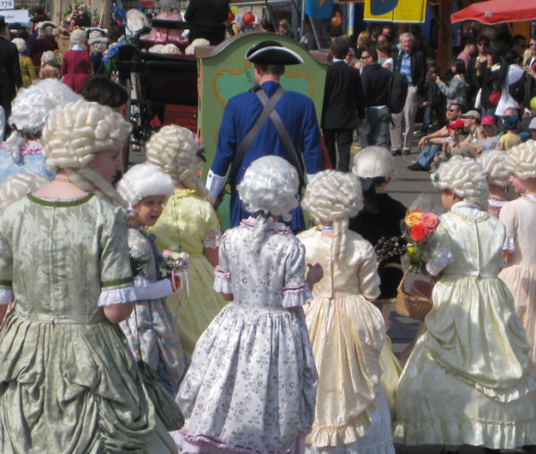 Children's parade in Zurich for the Sechselauten