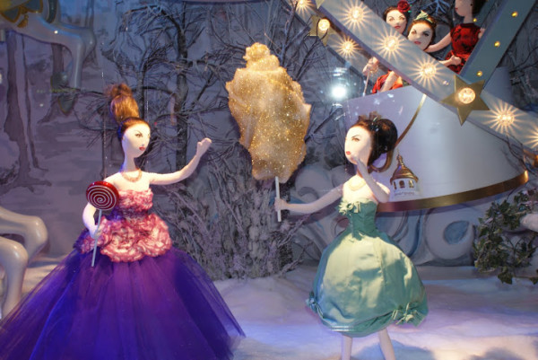 Pretty dolls at the Dior stand, Le Printemps Paris