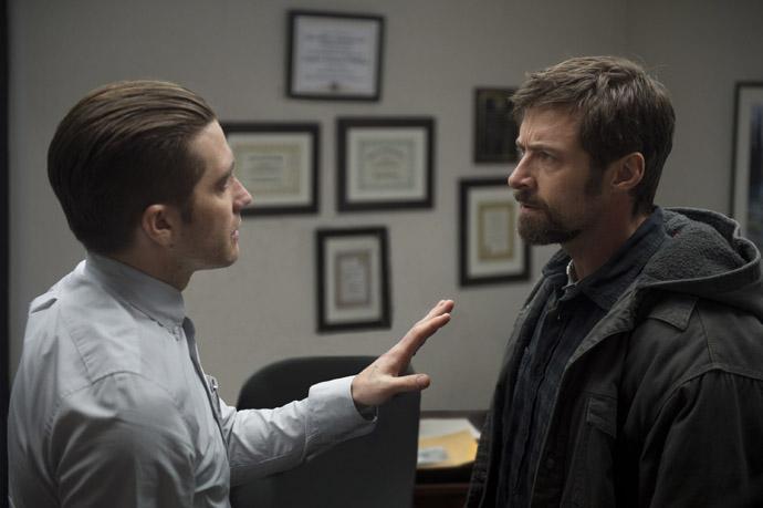 PRISONERS - Detective Loki (Gyllenhaal) and Keller Dover (Jackman) - copyright Ascot Elite Group