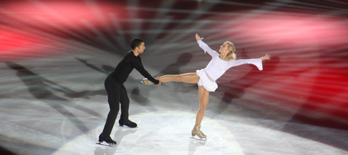 Robin Szolkowy and Aljona Savchenko at Art on Ice - coypright Véronique Gray