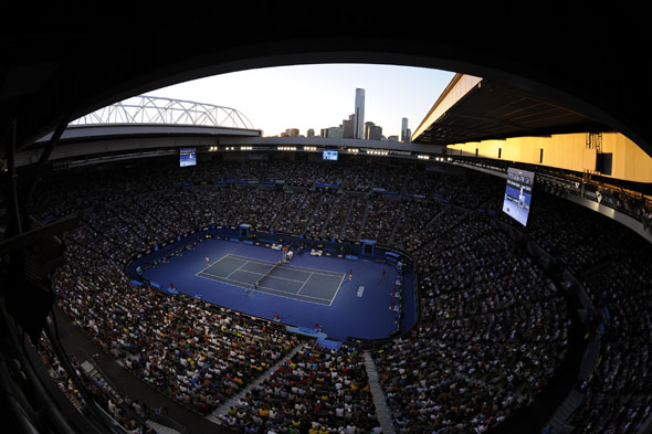 Australian Open - Day 7 -  Federer v Tomic at the Rod Laver Arena AO12 - credit Ben Solomon